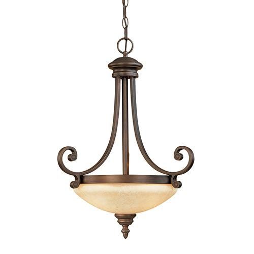 Millennium Three Light 1223-RBZ Pendants, Bronze/Dark