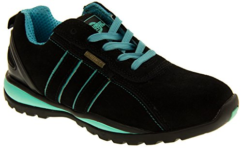 Northwest Territory Ottowa Black And Blue/Green Suede Leather Toe Cap Safety Shoes 8 B(M) US by Northwest (Image #1)