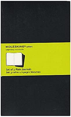 Moleskine cuaderno revistas negro, blanco 5. x 8 1/4 en. pack de 3 ...