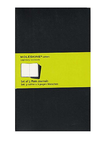 Moleskine Cahier Journals black, blank 5 in. x 8 1/4 in. pack of 3, 80 pages each [PACK OF 3 ]