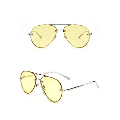 JUJU MALL-Vintage Aviator Sunglasses Women Men Retro Shades Glasses Metal Frame - Bans Au Ray