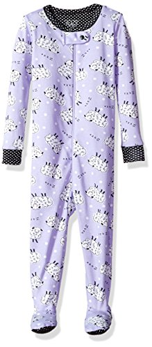 The Children's Place Baby Little Girls' Print Stretchie Pajama, Purplribn 91340, 12-18MOS