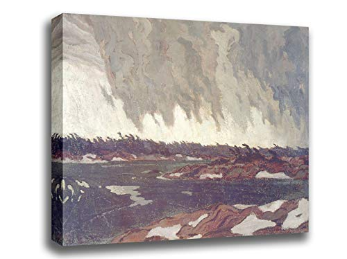 Canvas Print Wall Art - March Storm, Georgian Bay - by A.Y. Jackson - Giclee Printed on Stretched Gallery Wrap - 16x12 inch ()
