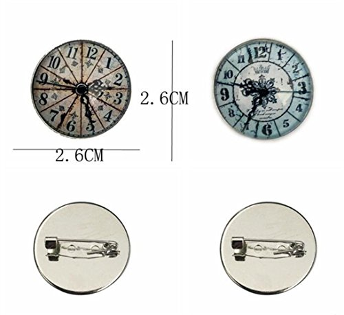 Styles Exquisite Badge Accessories Brooch Buttons Diverse Clothing Needle Jewelry Retro Badges Collar au yushangtong Clock Black Dress qFw8CIn4