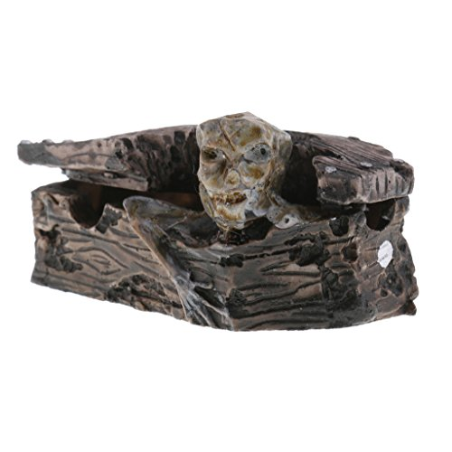 Homyl Resin Action Figure Zombie in Coffin Handmade Crafts for Home Office Decor (Sandplay Kit)
