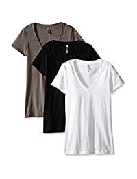 Clementine Women's Deep V-Neck T-Shirt (Pack of 3)
