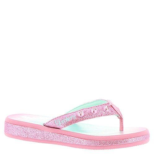 Skechers Girls' Twinkle Toes Sunshines Thong,Pink/Multi,US 1