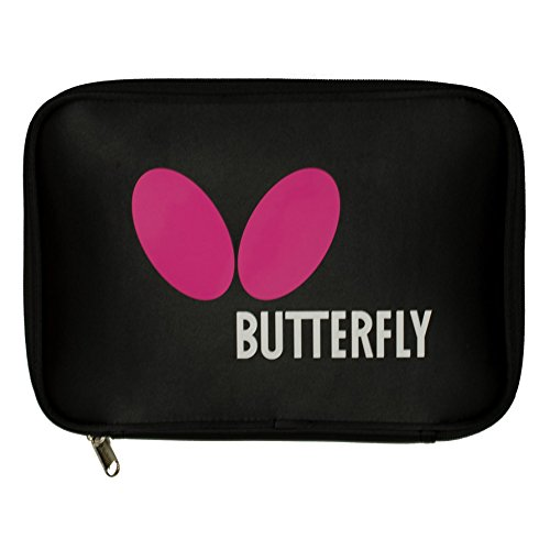 Butterfly Logo Tour Table Tennis Racket Case - Holds 2 Paddles and 4 Balls - Padded Tour Pouch