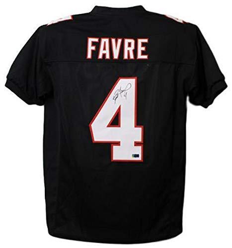 BRETT FAVRE AUTOGRAPHED ATLANTA FALCONS SIZE XL BLACK JERSEY FAVRE - Autographed Black Jersey