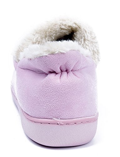 AgeeMi Shoes Women Flat Lightweight Winter Lined Cotton Ankle Warm Slippers Pink qnarVW
