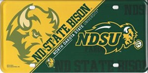 NCAA North Dakota State Bison Metal License Plate Tag ()