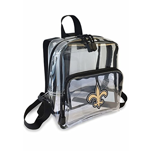 The Northwest Company Officially Licensed NFL New Orleans Saints Unisex X-Ray Mini Stadium Friendly Transparent Backpack, Blue ()