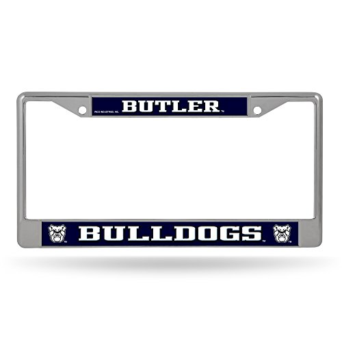 Rico Industries NCAA Butler Bulldogs Standard Chrome License Plate Frame ()