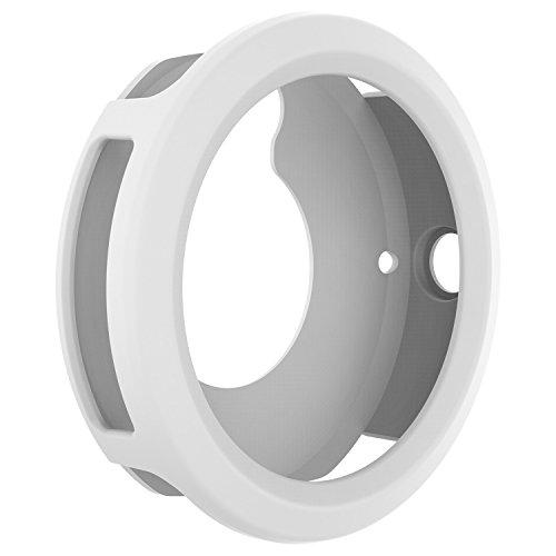 for Garmin Vivoactive 3 Watch Protective Case,RunTech Soft Silicone Case Cover Protector Sleeve for Vivoactive 3 Band Cover (White)