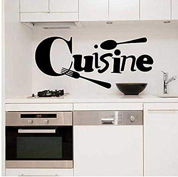 HHZDH Küche Wandtattoo Dekoration Home Aufkleber Küche Französisch ...