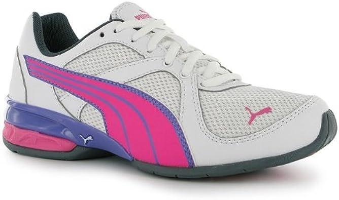 Puma - Zapatillas de Running para niño Negro Blanco/Rosa: Amazon.es: Zapatos y complementos
