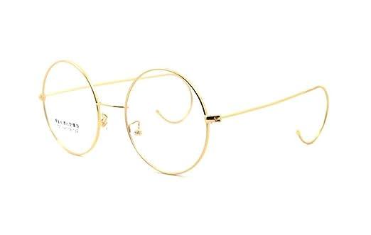Amazon.com: SUMDA 46mm 48mm 50mm 54mm Round Wire Rim Eyeglass Frames ...