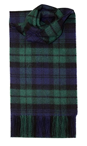 Lochcarron Black Watch Tartan Lambswool Scarf