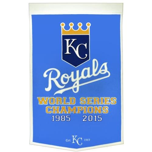 City Hangings - Kansas City Royals World Series Championship Dynasty Banner - with hanging rod