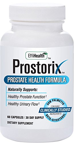 Prostorix Prostate Health Formula. Supports Prostate and Urinary Health. Contains Beta Sitosterol, Saw Palmetto, Lycopene, Quercetin, Vitamin D3, Stinging Nettle, Pumpkin Seed,