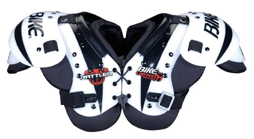 (Bike BYSH11 Youth Rattler Serier Shoulder Pad (WHI-White - Medium))