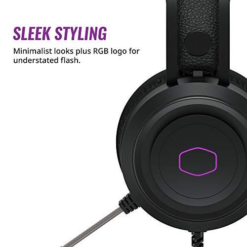 Cooler Master CH321 Auriculares Gaming Casco Over-Ear, Transductores de Neodimio 50 mm, Micrófono Omnidireccional…