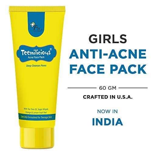 Teenilicious Anti Acne & Pimples Face Pack Mask With Tea Tree Oil & Vitamin E, 60g