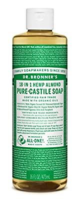 Dr. Bronner's Pure-Castile Liquid Soap - Almond 32oz.