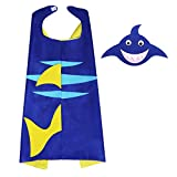 Shark Party Supplies with Cape and Mask Toddler Boys Girls Shark Dress up Costume