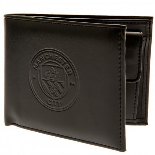 Manchester City FC Authentic EPL Debossed Wallet In Gift Box