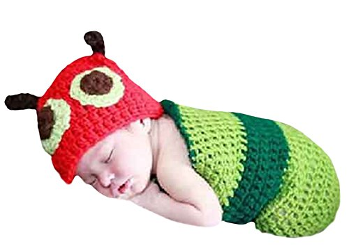 Halloween Baby Infant Toddler Cute Little Worm Costumes Sleeping Bag 0-3 Month - Mother And Infant Daughter Costumes