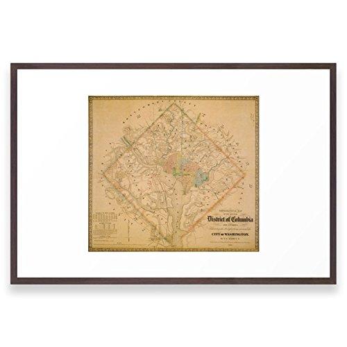 Society6 Civil War Washington D.C. Map Framed Print Conserva