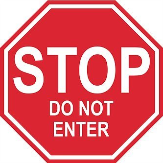 """""""Stop Do Not Enter"""" - 22in Durable Floor Sign by Graphical Warehouse Vibrant Colors - Safety and Security Signage. Red Octagon."""