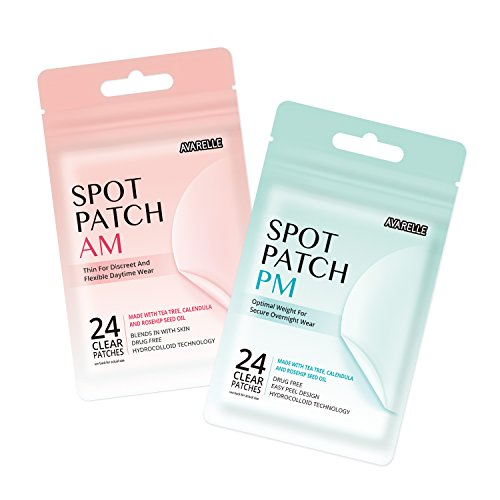 Acne Spot Patch Hydrocolloid Cover With Tea Tree Calendula Rosehip Seed Oil (48 Count)