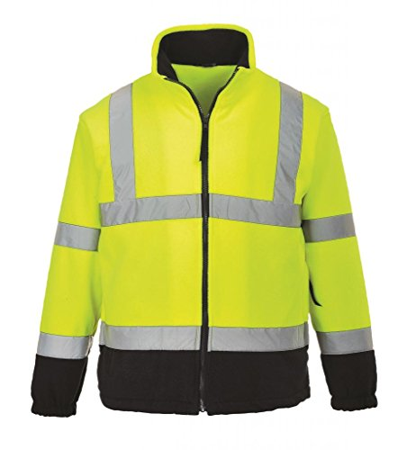 Portwest Regular Fit Hi-Vis Zwei Ton Fleece, UF301YNRXXL Gelb / marineblau