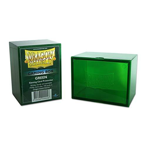 Dragon Shield Gaming Box Green Durable Heavy Duty Hard Plastic Deck Case Protector