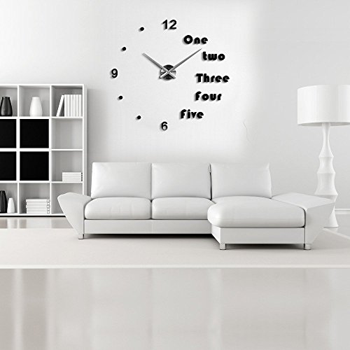 lance home modern 3d frameless large wall clock style watches wall