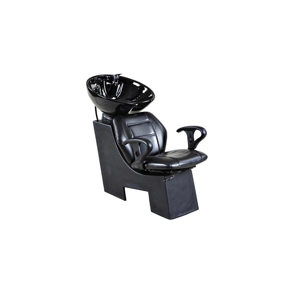 Icarus Universal Black Beauty Salon Shampoo Chair & Bowl Backwash Unit