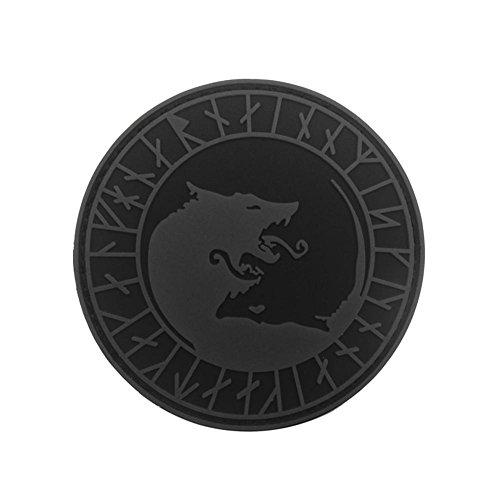パッチ PVC製 ワッペン ウルフトーテム バッジ 貼付パッチ ステッカー アップリケ パッチセット 腕章 ショルダーバッジ 刺繍パッチ Prosperveil