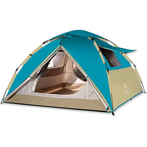 Aurora 3 Person Tent - ALUS- Thick Rainproof Tent Outdoor 3-4 People Tents Double Automatic Home Camping Tents (Color : # 3)