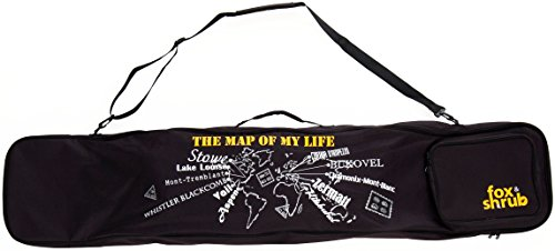 Fox & Shrub - The Map Of My Life ORIGINAL Boot and Snowboard Bag - 160cm Sport Padded Carry Cover Case for Air Travel -For Youth Women & Guys -Latest Board Flight Boot Compartment Trend Design by FoxPrint