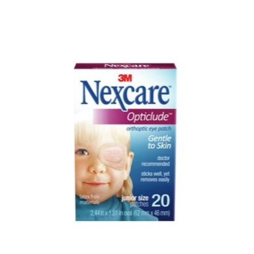 Image of 3M Health Care 1537 Nexcare Opticlude Orthoptic Eye Patch, Plastic, Junior Size, 2.44' x 1.81' Size (Pack of 720) Bandages & Bandaging Supplies