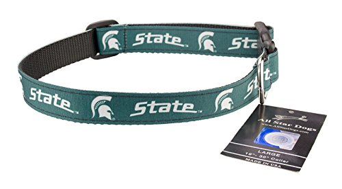 All Star Dogs Michigan State Spartans Ribbon Dog Collar - Large