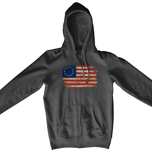 Ranger Up Betsy Ross Flag Hoodie - Gray