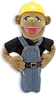 Melissa & Doug Construction Worker Puppet With Detachable Wooden Rod for Animated Gest