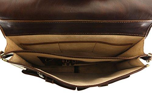 Business Echtleder Aktentaschen - 4026 Honig - Echtes Leder Tasche - Mega Tuscany