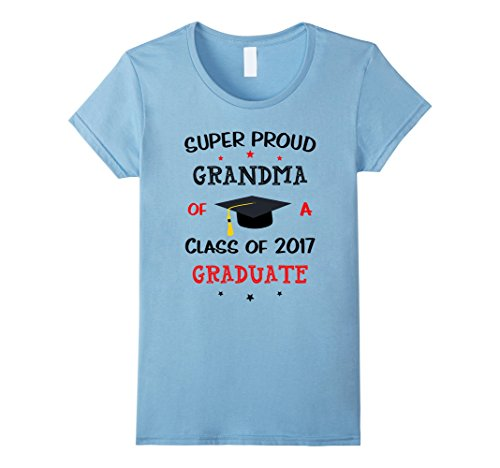 Women's Proud Grandma Class Of 2017 Graduate Graduation T...