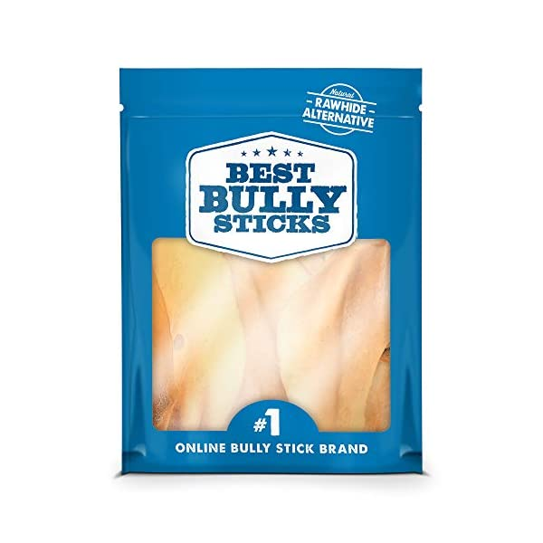 Best Bully Sticks 100% Natural Cow Ear Dog Treats (15 Pack) 1