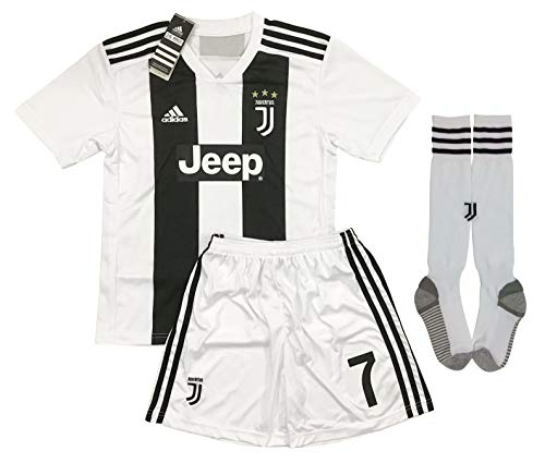 8fb39dd42 LiveSport New 2018-2019 Ronaldo #7 Juventus Home Jersey Shorts and Socks  for Kids
