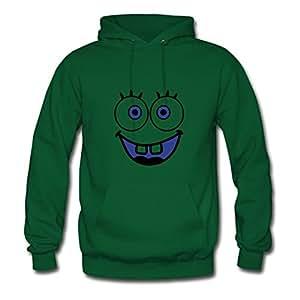 Myrtlebailey Face Smilie Bob Designed Sweatshirts X-large For Women Green